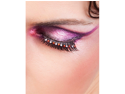 Black Red Rhinestone False Eyelashes Extensions Baci Starlight Edition
