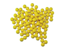 3Skull Paintball Rubber 100 Reusable Paintballs - Yellow