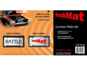 Hushmat 10600 License Plate Kit - 4inx12in Ultra Damping Pad w/License Plate