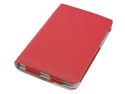 Devicewear Rotating Google Nexus 7 Case First Generation/2012 with Multi-angle Stand, Smart On/Off switch, Red vegan leather