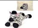 """Zebra Peek-A-Boo Plush Pillow 19"""" by Fiesta"""