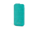 Kensington Portafolio Teal Ostrich Solid Flip Wallet for iPhone 5 K39609WW