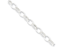 5mm, Sterling Silver, Oval Rolo Chain, 18 inch