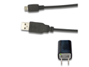 AC Wall Charger + USB Sync Data Cable for AT&T LG CF360 CF750 GU292 Incite CT810