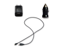 Micro USB Data Cable + AC Wall & Car Charger for HTC EVO 3D 4G 4G LTE V 4G LTE