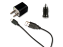 USB Sync Data Cable + AC Wall Charger+ Car Charger for Verizon LG EnV3 VX9200