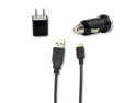 USB Sync Data Cable + AC Wall Charger+ Car Charger for Sprint LG Wine II LX370