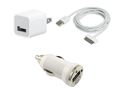 USB AC Home Wall + Data Cable + Car Charger for iPod Touch iPhone 3GS 4S 4 2G 3G