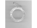 14Kt White Gold Large D/C Circle Drop Earrings 14K