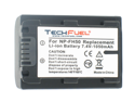 Sony DCR-SR50 Camcorder Battery, New TechFuel NP-FH50 Battery