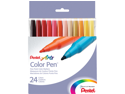 Pentel Of America 24 Count Assorted Colors Pen Set  S360-24 - Pack of 6