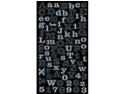 Jolees 426201 Bling Stickers-Silver Mini Foil Alphabet