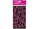Jolees 426211 Bling Stickers-Pink Puffy Flourish