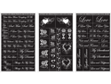 "Rub 'n' Etch Glass Etching Stencils 5""X8"" 3/Pkg-Romantic Moments"