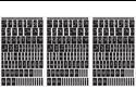 "Rub 'n' Etch Glass Etching Stencils 5""X8"" 3/Pkg-Script Letters & Numbers"