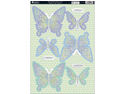 "Seasons Die-Cut Punch-Out Sheet 8""X12""-Spring Butterflies Aqua"