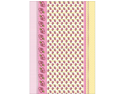 "Loralie Heavyweight Background Card Sheet 8""X12""-Mellow Yellow Stripe W/Pink Foil"