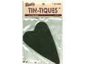 "Rusty Tin-Tiques Tin Cut-Outs-Folk Heart 3-3/4"" 2/Pkg"