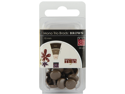 Bazzill Brads 10mm 24/Pkg-Brown