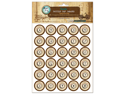 """Vintage Collection Bottle Cap Images 1"""" 65/Pkg-Typewriter Map"""