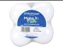 """Styrofoam Ball 2-1/2"""" 4/pkg-White"""