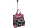 Rolling Multi-Purpose Tote-Plaid