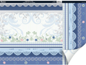 "English Riviera Double-Sided Plus Cardstock 12""X12""-Blue"