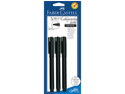 PITT Calligraphy Pen 2mm Chisel Tip 3/Pkg-Black