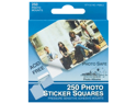 Photo Squares Self Adhesive 250/Pkg-White 1/2""