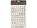"3-D Gold Letter Stickers 4""X6"" Sheet-Upper & Lower Case 242pc"