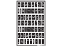 "Over 'n' Over Reusable Glass Etching Stencils 5""X8"" 1/Pkg-Lowercase"