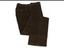 Ralph Lauren Men's Flat Front Brown Corduroy Cotton Dress Pants