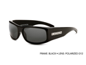 Kaenon Men's Gauge Sunglasses 008-01-G12 Black Polarized W/Case