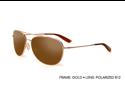 Kaenon Men's Metal Driver Sunglasses Gold B12 306-02-B12 Polarized W/Case