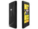 Skque S-Shape TPU Gel Back Case for Nokia Lumia 920, Black