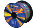 NEW Q POWER 16GA50FTSFLEX 16 GA 50' SPOOL CAR AUDIO SUPER FLEX SPEAKER WIRE