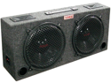 Xxx (2) Dual 12 Car Audio Subwoofer Sub Box W/ 5 Tweeters