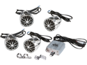 New Pyle Plmca70 800 Watt 4 Speaker Kit Motorcycle Amp/Handle-Bar/Ipod/Mp3 Input