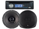 "New Boss 647Ck Detachable Face Cd/Mp3 Receiver With 6.5""/5.25"" 2 Way Speakers"