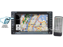 Lanzar - 6.5'' Double DIN In-Dash Touch-Slide Control Screen TFT/LCD Monitor w/ DVD/CD/MP3/MP4/SD/AM-FM/RDS/3D UI/ Bluetooth & Screen Dial Pad Built-In GPS/TTS w USA/Canada & Mexico Maps