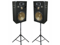 "Podium Pro 15"" Speakers 3 Way Pro Audio Monitor Pair and Stands DJ Set for PA Home or Karaoke PPB15SET1"