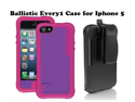 AGF Ballistic Every1 Cover Case Holster Belt Clip & Stand for Apple Iphone 5 Rose Pink Purple EV0993-M695