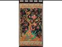 Tree of Life Tab Top Curtain Drape Panel Black/Beige