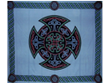 Celtic Cross Tapestry Wall Hang Bedspread Many Uses Blue