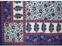 "Cotton Floral Print Tapestry or Spread Many Uses 104"" x 88"" Blue"