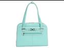 McKlein Oak Grove Ladies' Italian Leather Laptop Briefcase #96638 Aqua Blue