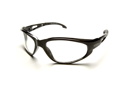 Edge SW111 Wolf Peak Dakura Wrap Around Safety Glasses, Black/Clear Lens
