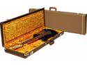 Fender Deluxe Case, Brown (Strat/Tele) With Gold Plush Interior