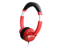 NoiseHush Red 3.5mm Stereo Jack Socket Stereo Headphones with In-Line Mic NX26-11953
