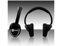 NoiseHush Black 3.5mm Stereo Headphone with function MIC for all Apple iPhone/iPad, Black - NX28i-12034